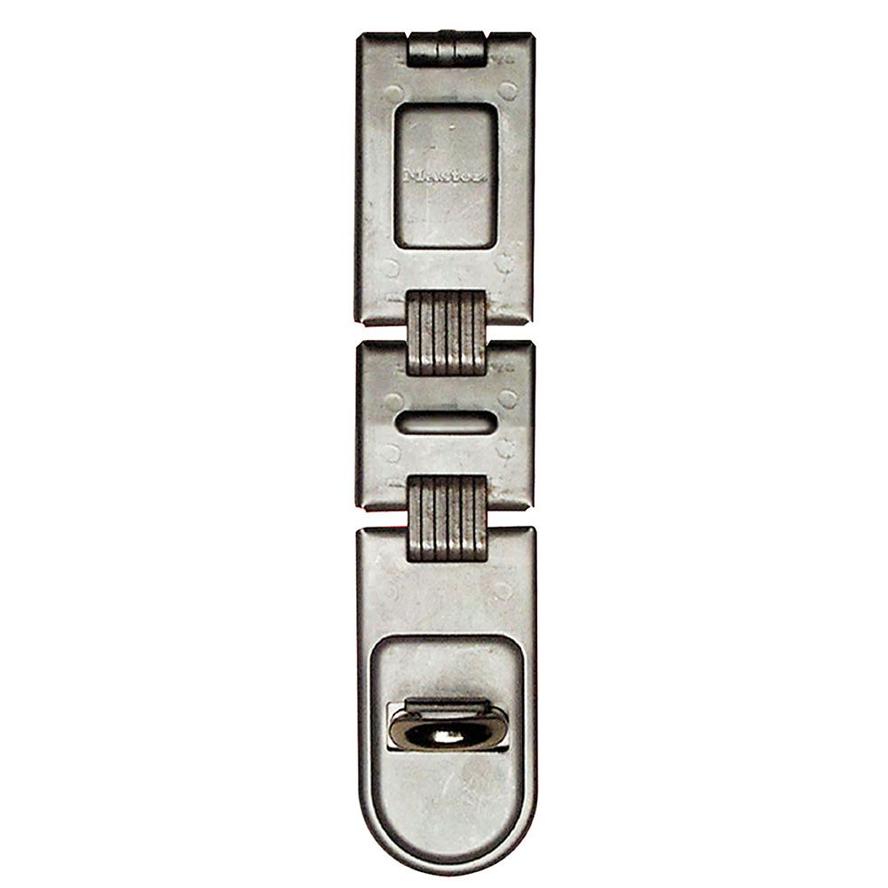 "Master Lock 7-3/4"" Long Zinc Plated Hardened Steel Double Hinge Hasp"