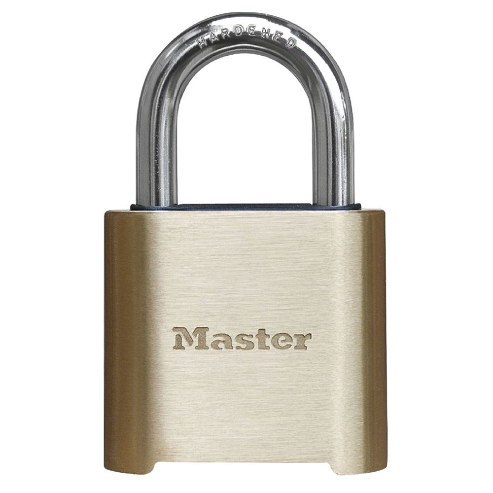 "Master Lock 2"" Resettable Combination Brass Padlock"