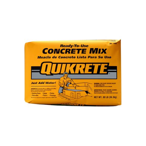 Quikrete High Strength Concrete Mix - 80 lb Bag