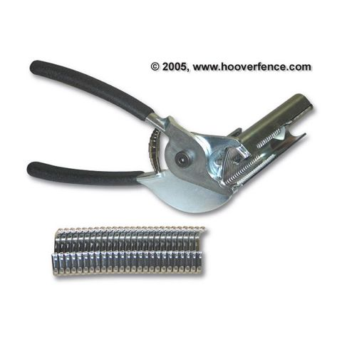 Hog Ring Tool with Automatic Feeder Magazine