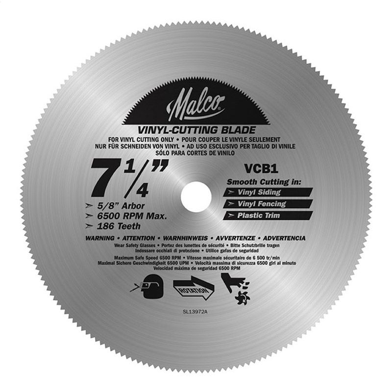 Malco Products Vinyl Cutting Circular Saw Blades