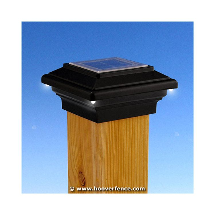 Aurora Deck Lighting Pegasus Solar Lighting Post Caps for Wood Posts