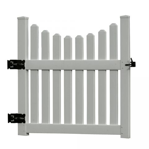 "New England Arbors Cottage Picket Gate(VA84258), for 49"" to 52"" Opening, White"