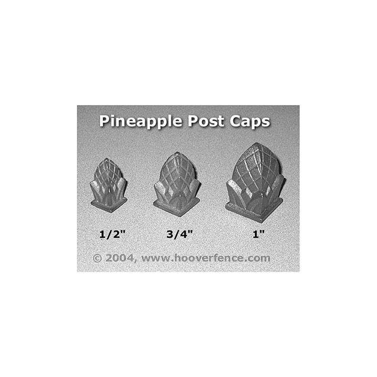 Cast Iron Pineapple Post Cap
