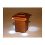 Nantucket Post Cap Bar Harbor Solar Lighting Post Caps for Wood Posts (NPC-BH-P)