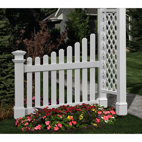 New England Arbors Cottage Picket Wings for Arbors (VA74338), White