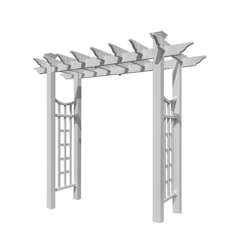 New England Arbors Fairfield Deluxe Arbor (VA84242) - White