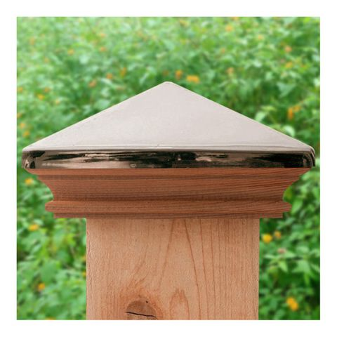 JakiJorg Miterless West Indies Stainless Steel Post Caps for Wood Posts