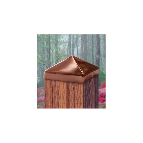 JakiJorg Copper Pyramid Post Caps for Wood Posts