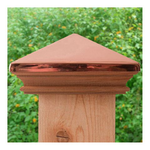Captiva Miterless West Indies Copper Post Caps for Wood Posts