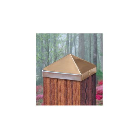 Captiva Stainless Steel Pyramid Post Caps for Wood Posts