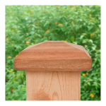 JakiJorg 4x4 Miterless Traditional Pyramid Post Cap for Wood Posts (JJ-TRADPY)