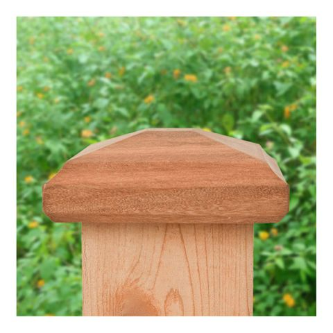Captiva 4x4 Miterless Traditional Pyramid Post Cap for Wood Posts