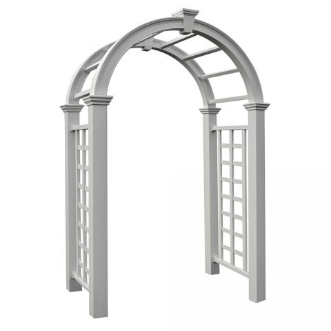 New England Arbors Nantucket Deluxe Arbor (VA84240) - White