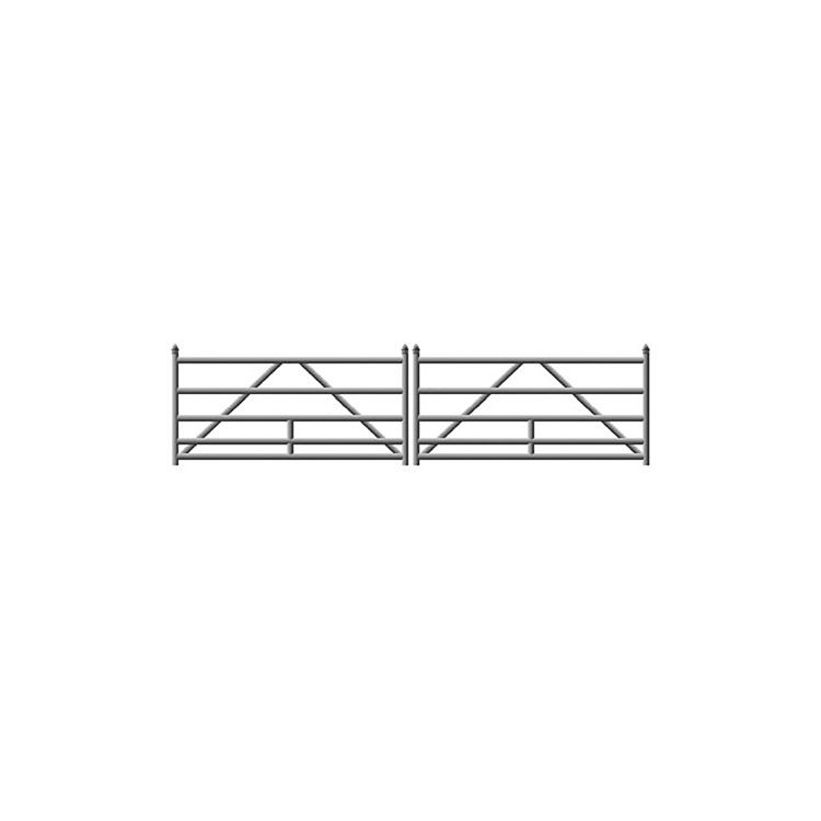 Hoover Fence G-Series Tubular Barrier Double Gate Kits - Aluminum