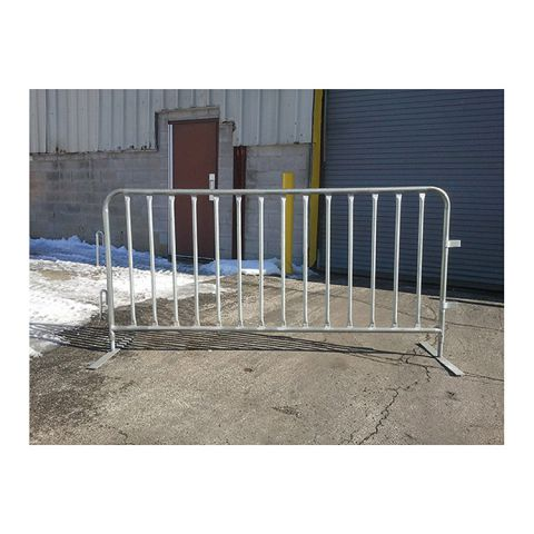 "Crowd Control Barrier w/ Flat Steel Foot - 37"" High x 86"" Wide"