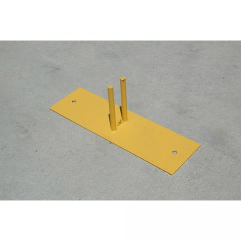 Jewett-Cameron Ground Base for Perimeter Patrol Panels - Yellow