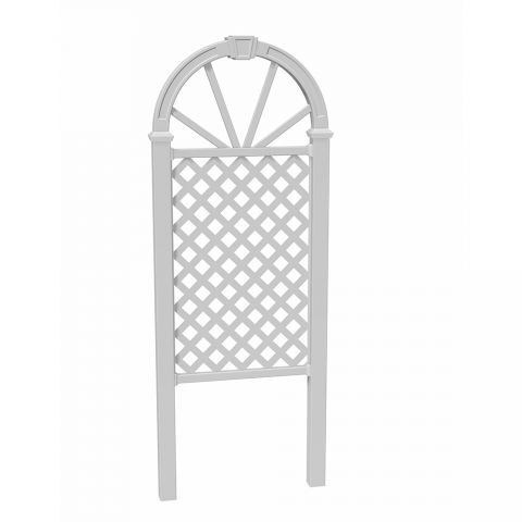 New England Arbors Nantucket Trellis (VA84238), White