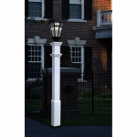 New England Arbors Sturbridge White Lamp Post Only (VA94428), White (UL-SLAMP)