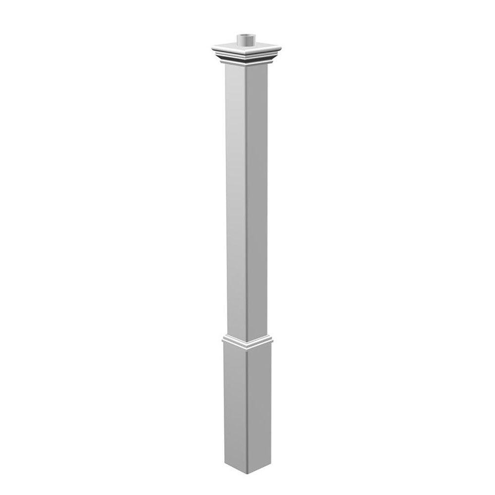 New England Arbors Madison White Lamp Post Only (VA94429), White