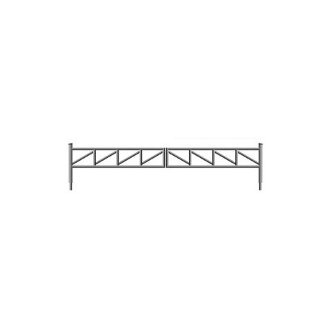 Hoover Fence N-Series Tubular Barrier Double Gate Kits - Aluminum