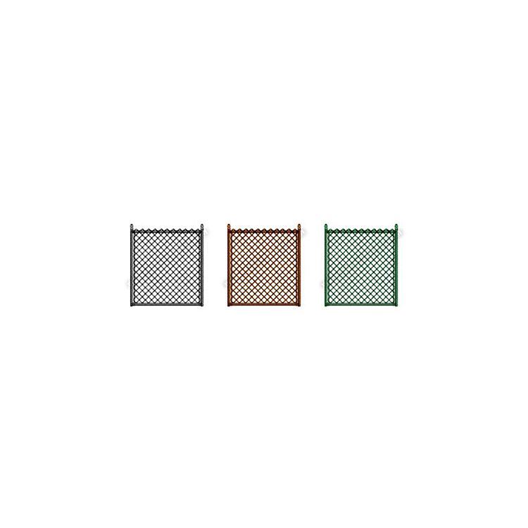 "Hoover Fence Residential Chain Link Double Swing Gate - All 1-3/8"" .065 Frame - Colored"
