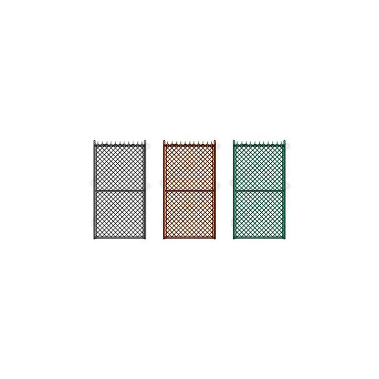 "Hoover Fence Industrial Chain Link Single Gates, All 2"" Galvanized HF40 Frame - Colored"