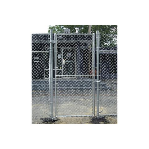 "Hoover Fence Industrial Chain Link Single Gates, All 2"" Galvanized HF40 Frame"