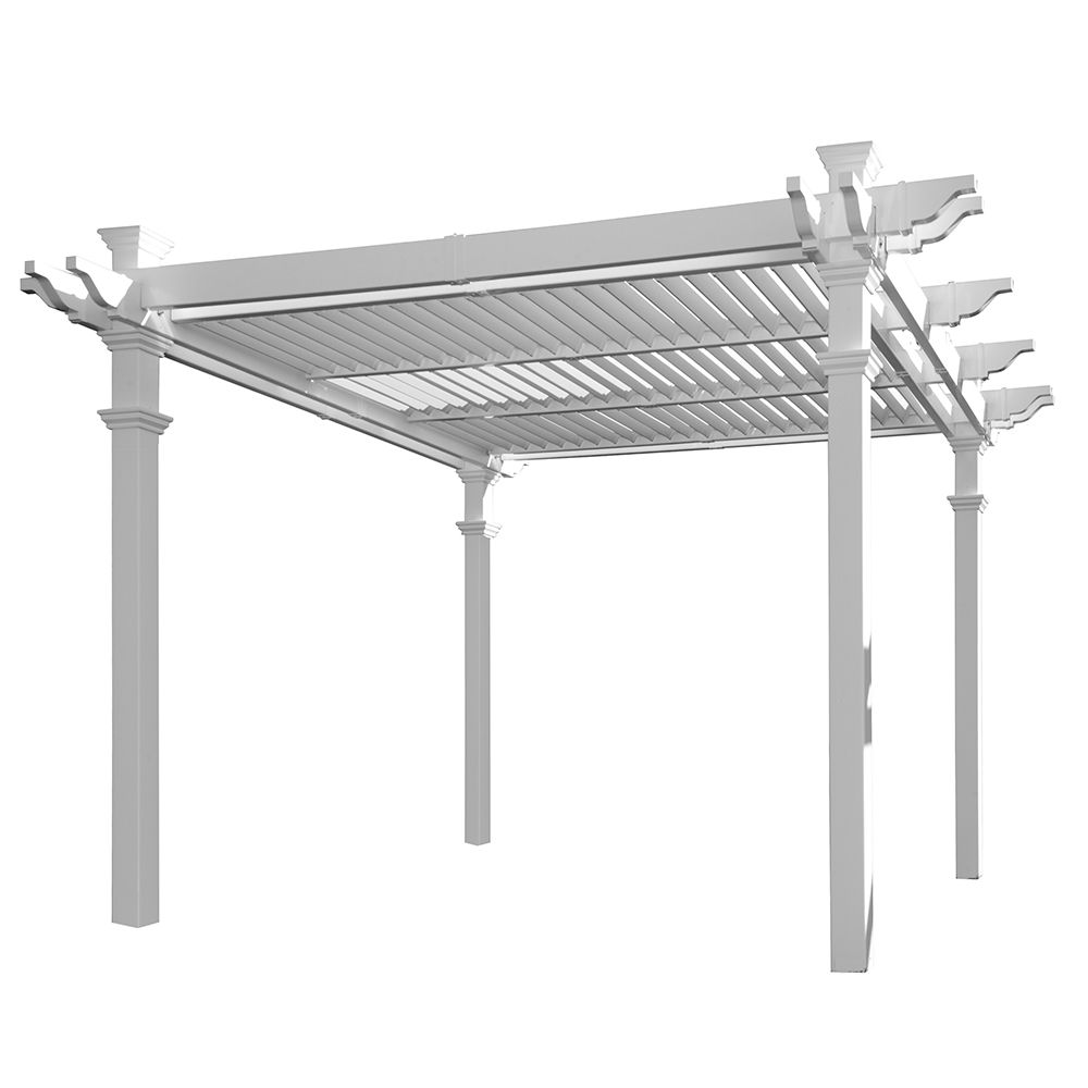 New England Arbors Avalon Louvered Pergola (VA42062)