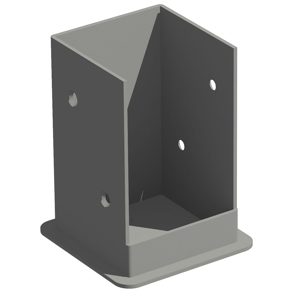 New England Arbors Galvanized Steel Bolt Down Bracket System