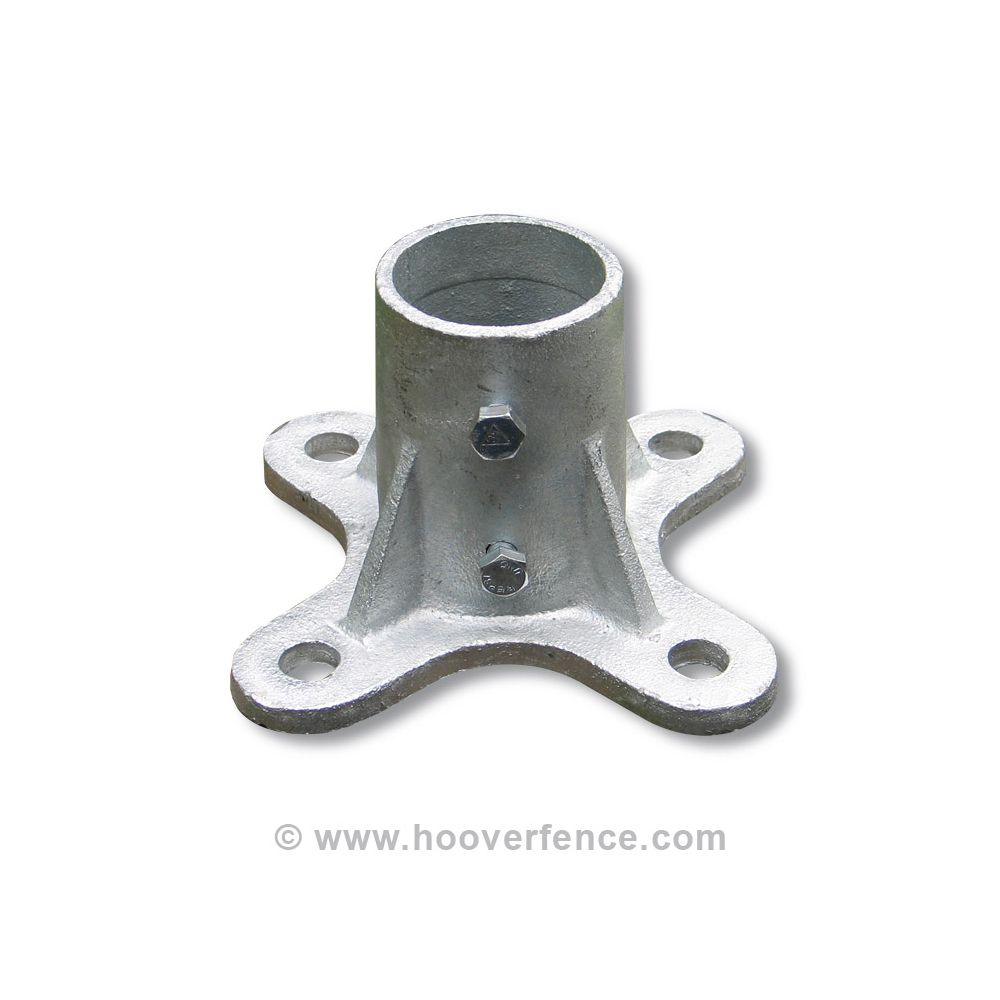 Chain Link Floor Flange Malleable Steel Hoover Fence Co