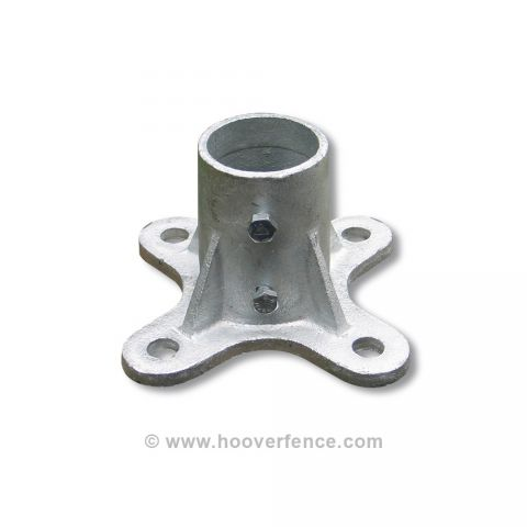 Chain Link Floor Flange - Malleable Steel