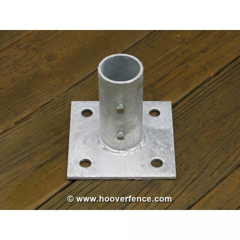 Chain Link Floor Flange - Pressed Steel
