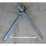 Chain Link Fence Post Wedge Anchor - Fits up to 2