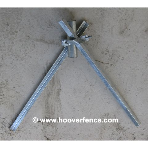 "Chain Link Fence Post Wedge Anchor - Fits up to 2"" (includes anchors, collar, and bolts)"