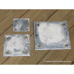 Chain Link Fence Floor Flange - Galvanized Plates - 4