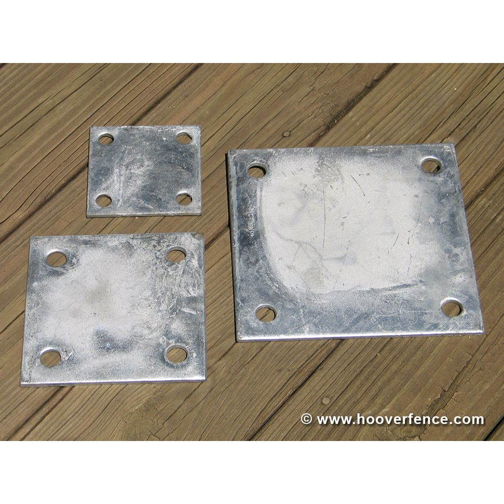 Chain Link Fence Floor Flange - Galvanized Plates