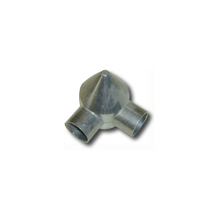 "Chain Link Fence Bullet Cap 2.5"" 2-Way (H-0042)"