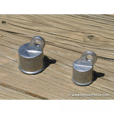 Chain Link Fence Rail End Cups, Aluminum