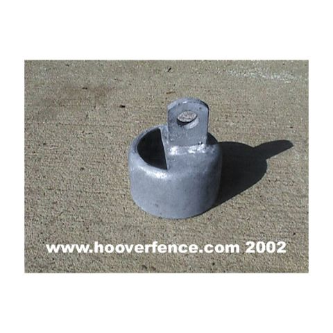 Chain Link Rail End Cups, Pressed Steel - Brace Combo
