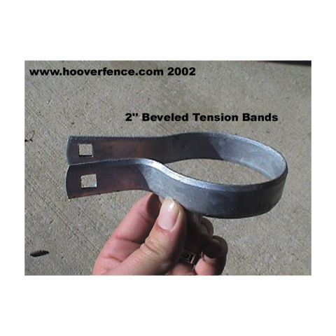 Chain Link Fence Beveled Tension Bands - Galvanized