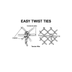 Easy Twist Preformed Steel Tension Wire Ties - Black, Brown, and Green (CL-ETTW-9V)