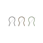 Easy Twist Preformed Steel Tie Wires - Black, Brown, and Green (CL-TIE-WIRE-EZ-TWIST-COLOR)