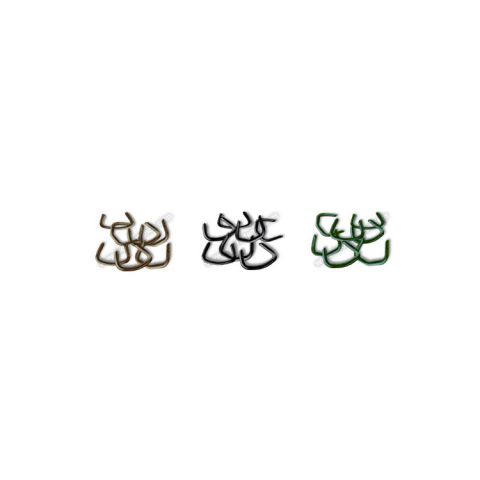 Chain Link Fence Hog Rings - Black, Brown, and Green