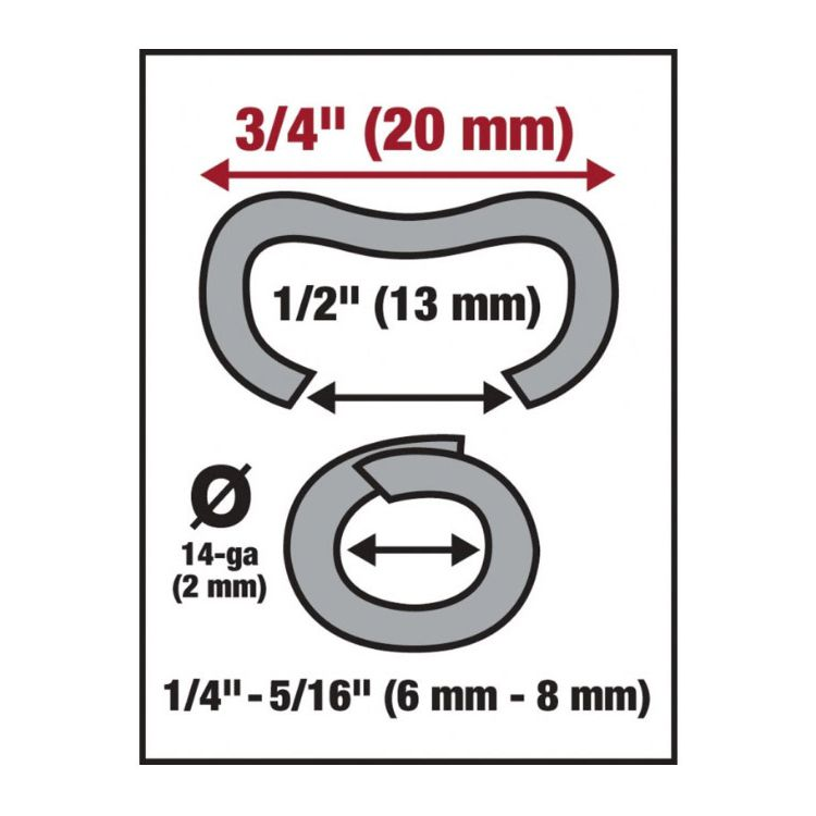 Malco Products HR2 Hog Rings - Galvanized Steel