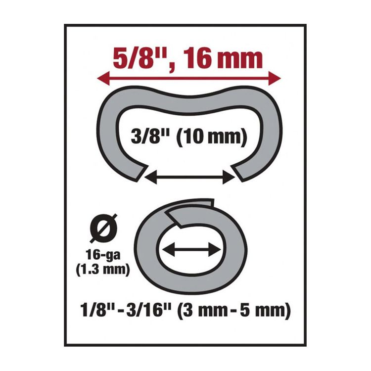 Malco Products HR1 Hog Rings - Galvanized Steel