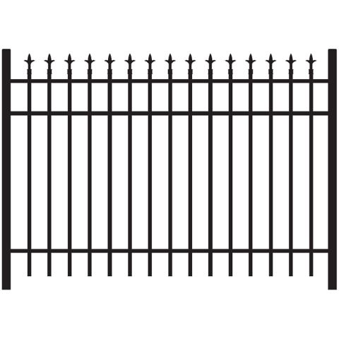 Jerith Legacy #111 Aluminum Fence Section w/Finials