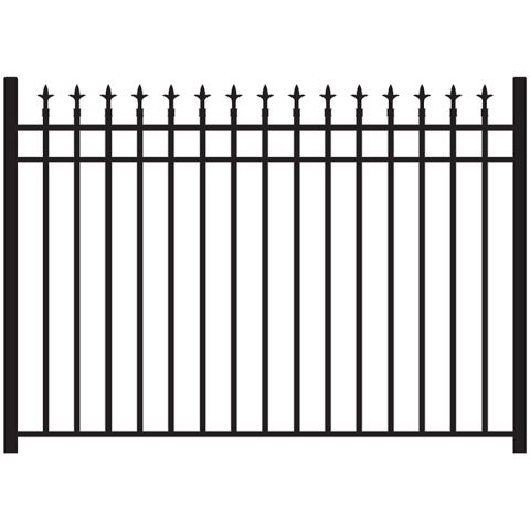 Jerith Legacy #111 Modified Aluminum Fence Section w/Finials