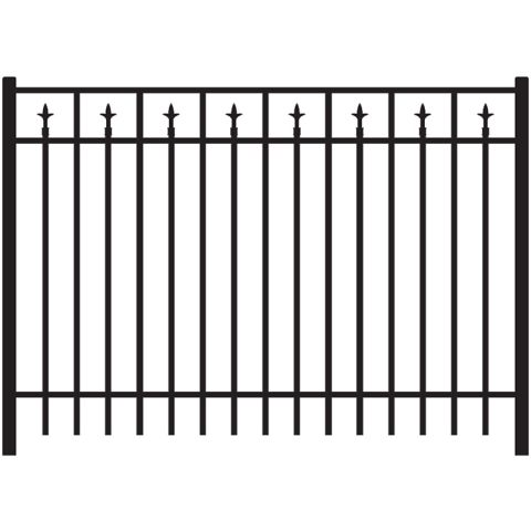 Jerith Legacy #211 Aluminum Fence Section w/Finials