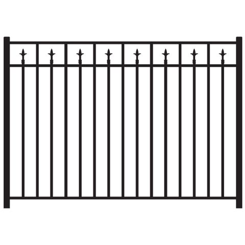 Jerith Legacy #211 Modified Aluminum Fence Section w/Finials
